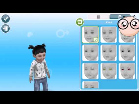 Sims FreePlay Aging Aria/Trying Toddler Costumes