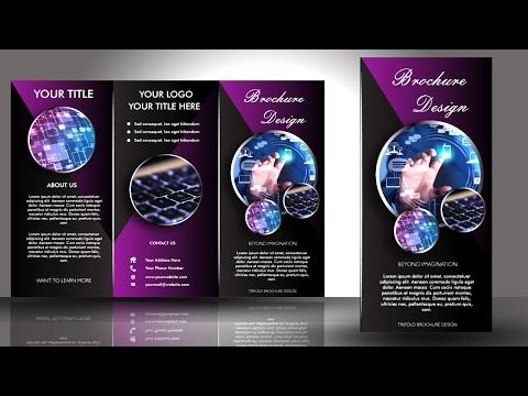 Easy Dark Trifold Brochure Design Part 2 : Adobe Illustrator