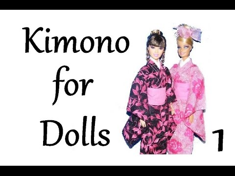 How to make a Kimono for Dolls Tutorial DIY (part 1)