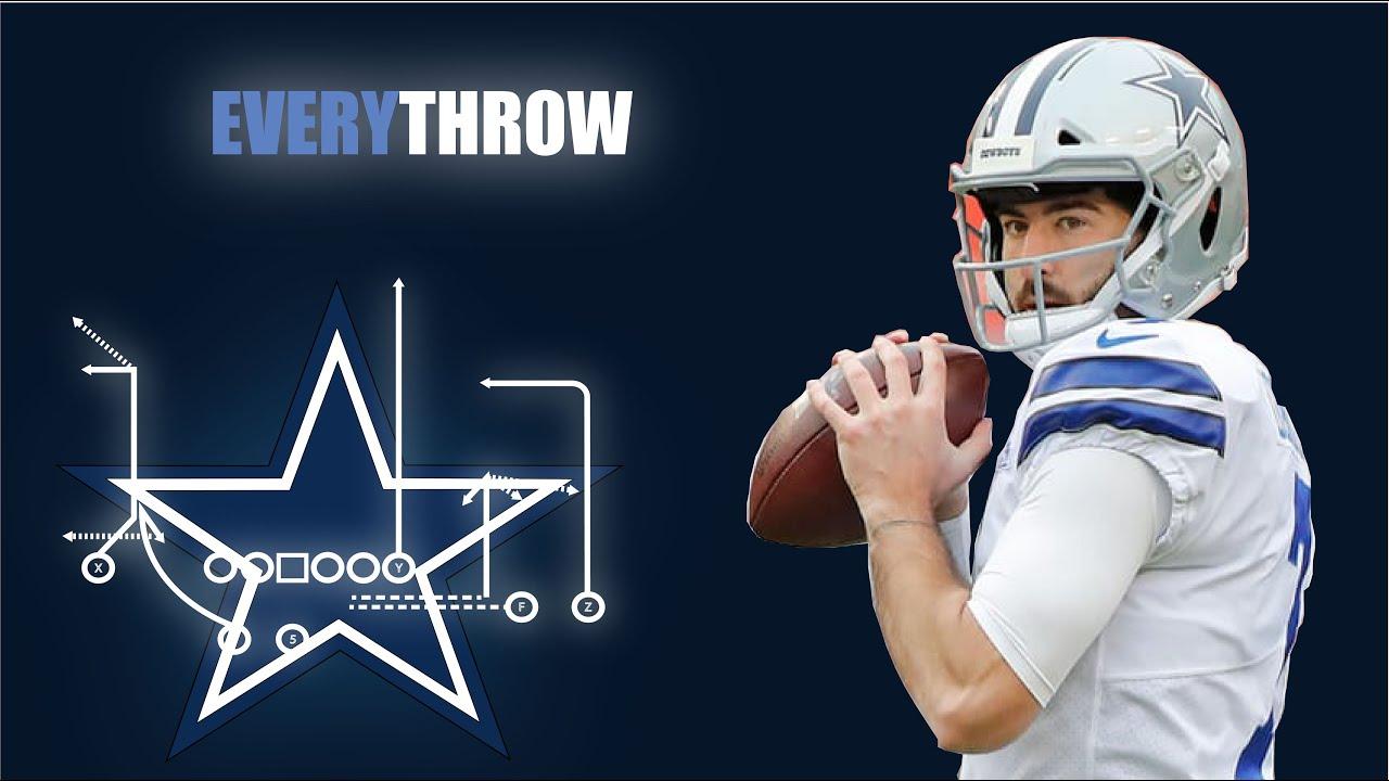 Ben Dinucci v. Philadelphia Eagles - Every Throw