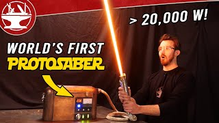 World's First Protosaber! (REAL BURNING LIGHTSABER)