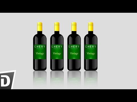 Draw red wine bottle in  Inkscape
