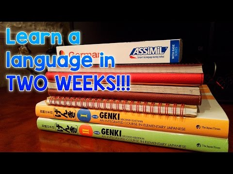 How to learn a language in TWO WEEKS!!!
