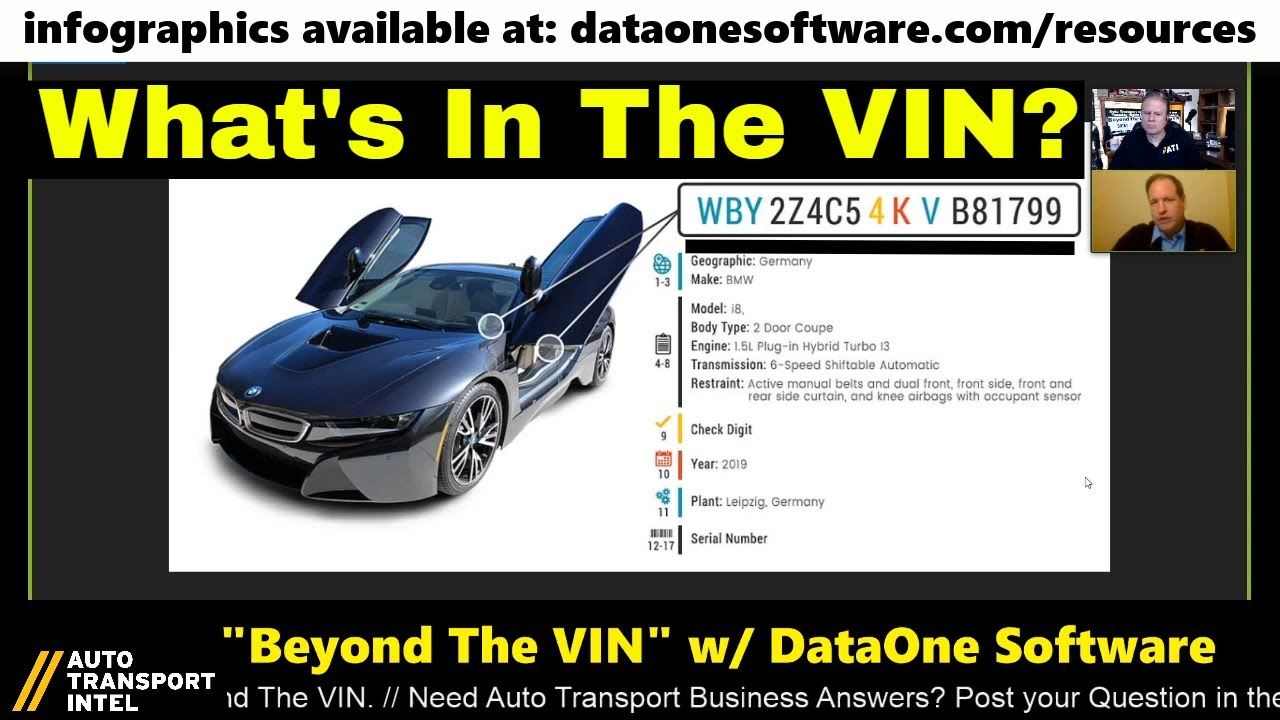 What's In The VIN Vehicle Identification Number DECODER with DataOne