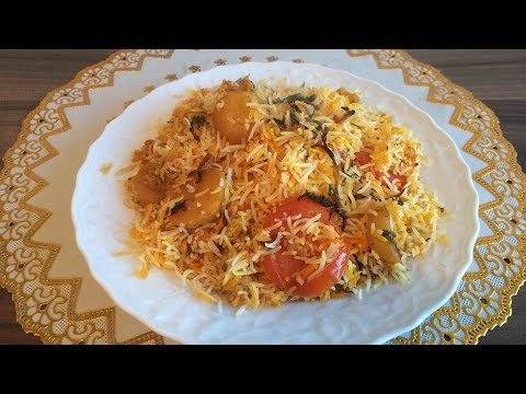 Aloo Biryani With Bismillah Cooking