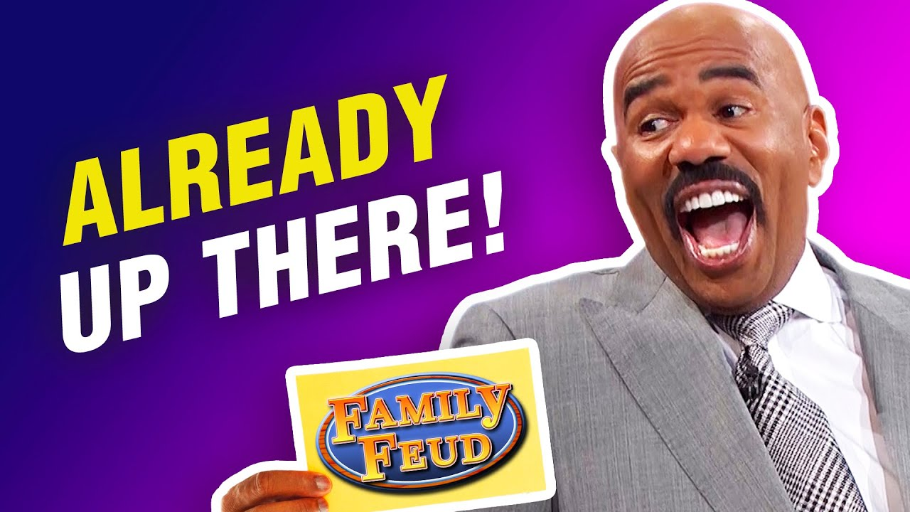 These answers were already up on the board! Steve Harvey roasts contestants on Family Feud!
