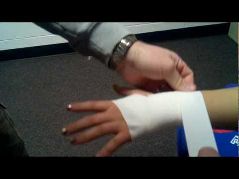 HF AT Aides- How to Tape a Wrist and Hand