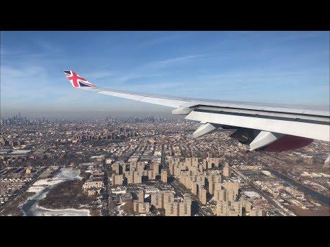Virgin Atlantic Airbus A340-600 Landing at New York - JFK Airport