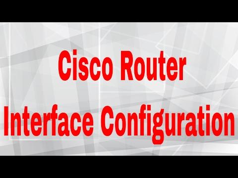 Cisco Router Interface Configuration