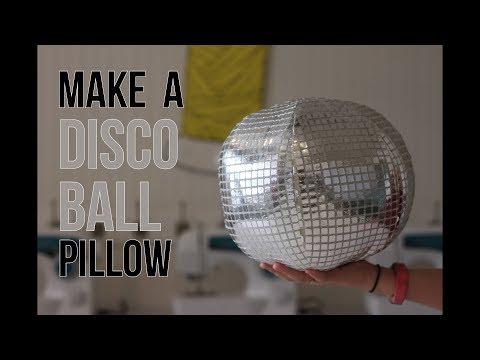 Make a Disco Ball Pillow- Sewing Video Tutorial