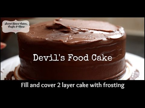 Fill & Cover 2 Layer Cake - Devil's Food Cake Cake and Frosting Demo