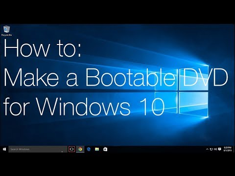 How to: Make a Windows 10 Install Disc
