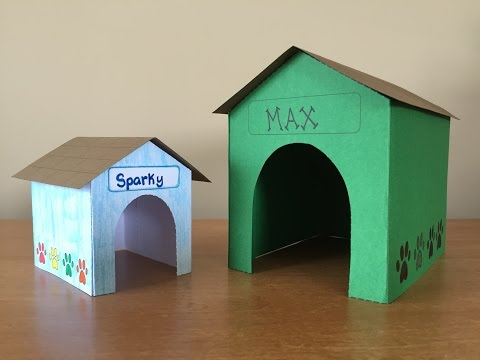 3-D Paper Doghouse Kids Craft