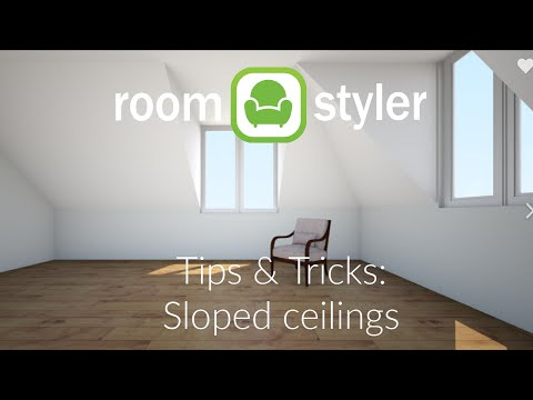 Roomstyler Tips and tricks: Sloped roofs