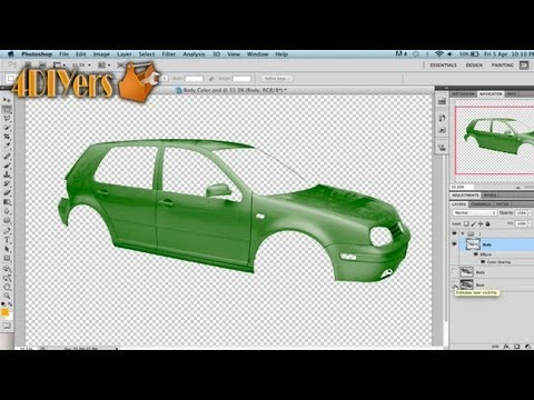 Adobe Photoshop: How to Change the Color of a Vehicle