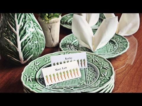 Easter Bunny Ear Napkin Folding Tutorial - Easter Table Setting
