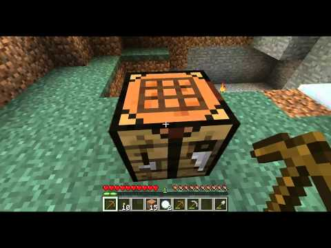 MineCraft - How to make a torch,crafting table and furnace [HD]