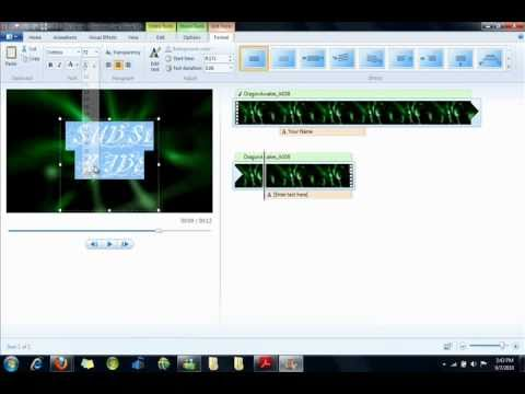 How To Make a Free and Awesome Intro in Windows Live Movie Maker (HD)