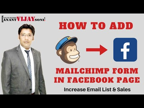 Increase Email List - How to Add Mailchimp Form in Facebook Page
