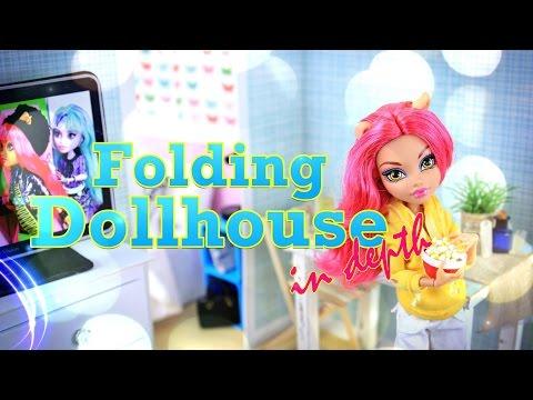 DIY - How to Make: Folding Dollhouse - IN DEPTH - Handmade - Doll - Crafts - 4K