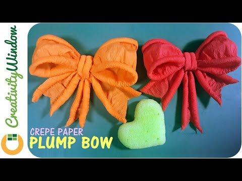 Crepe Paper Bow-making Technique