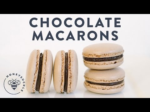 Chocolate Macarons Italian Method (Bouchon Bakery) - Honeysuckle