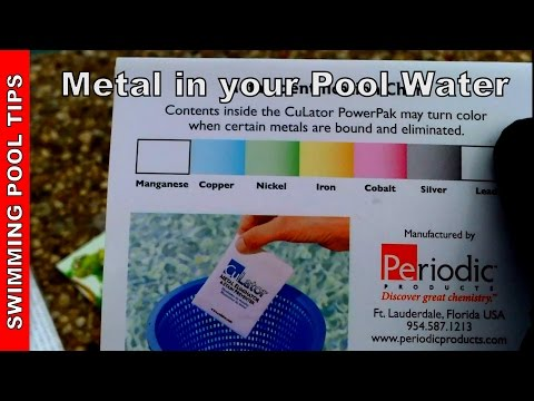 Metal in Pool Water, How to Treat and Eliminate Metal