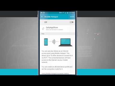 Samsung Galaxy S6 Tips - Setting Up Mobile Hotspot and Tethering