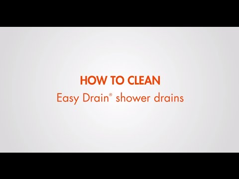 How to clean your Easy Drain shower drain (English)