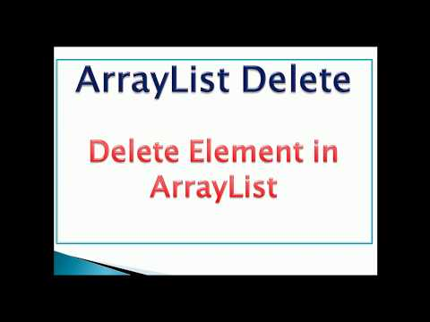 how to remove element from arraylist in java Example