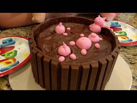 Pigs In a Mud Bath Cake - Lacey's Birthday Cake