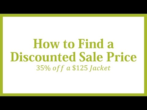 How to Find a Discounted Sale Price: 35% off a $125 Ticket