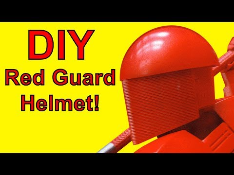 How To Make A Red Guard Helmet (Star Wars DIY)