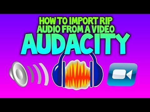 Rip/ Importing Audio - Audacity - YouTube Tutorials