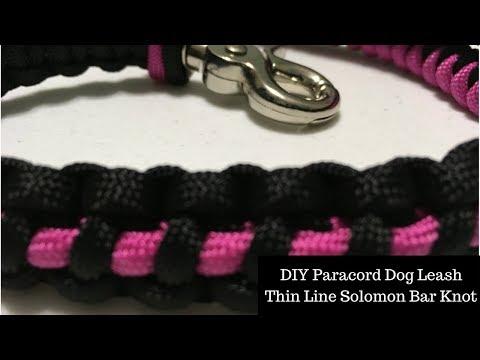 DIY Paracord Dog Leash - Thin Line Solomon Bar