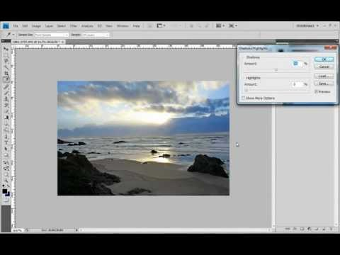 Video Tutorial Adobe Photoshop CS4 Dark Pictures How to Lighten Shadows and Even Out Highlights