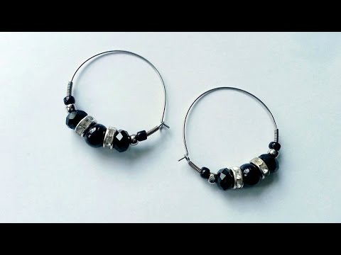 How To Create Stunning Beaded Hoop Earrings - DIY Style Tutorial - Guidecentral