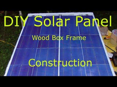 DIY Solar Panel wood box frame, step by step