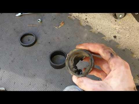 99 WJ grand cherokee upper control arm bushing install part 2