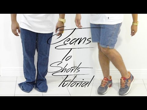 Old Baggy Jeans into Shorts // Fashion Fridays