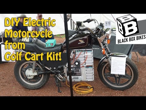 DIY Electric Motorcycle from Golf Cart Parts