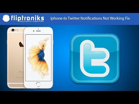 Iphone 6s Twitter Notifications Not Working Fix - Fliptroniks.com