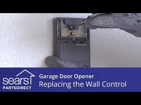 Replacing the Wall Control on a Garage Door Opener