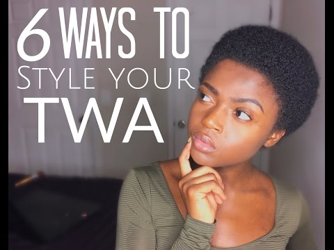 6 Cute Ways to Style Your natural  TWA 3c 4a 4b & 4c friendly