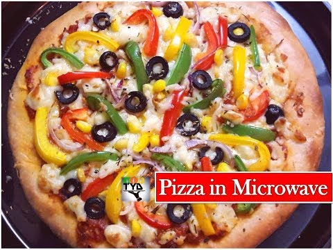 Veg Pizza in Microwave Convection Oven   वेज पिज़्ज़ा बनाने का आसान तरीका   How to make Pizza