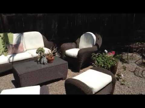 Chalk paint on Patio Cushions