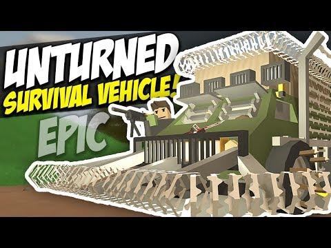 EPIC SURVIVAL VEHICLE - Unturned Defense | Horde Beacon!