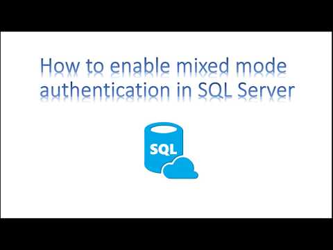 Learn SQL in 3 Minutes--Enable mixed mode authentication