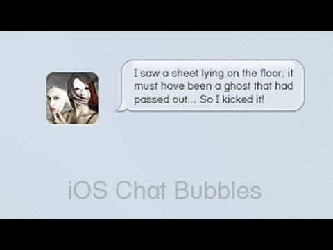 Create Apple iOS Chat Bubbles in Photoshop CS6