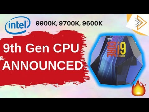 Intel's Response to AMD - 9th Gen CPU Announced Core i9 9900K, i7 9700K | Full Details[in HINDI]